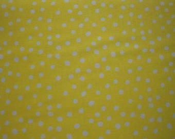 White Polka Dots-Yellow B/G-Choice Fabrics-BTY