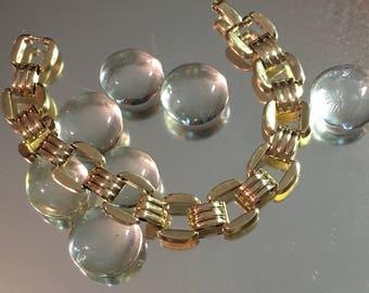 Vintage Retro c1940 14K Yellow Gold Link Bracelet