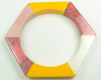 Lacquered Lucite Bangle Bracelet