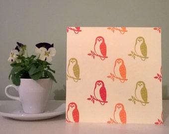 Scottish Tawny Owl woodland bird blank greetings card