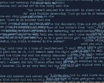 Windham Fabrics Literary Text On Blue 42706-6