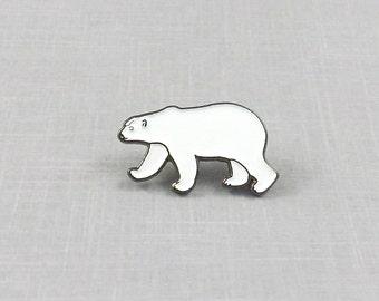 Polar Bear Pin, Enamel Pin, Kawaii Jewelry, Enamel Lapel Pin, Polar Bear Jewelry, Polar Bear Brooch, Animal Lapel Pin, Animal Jewelry, Badge
