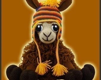 Amigurumi Pattern Crochet Coquena Llama Doll DIY Digital Download
