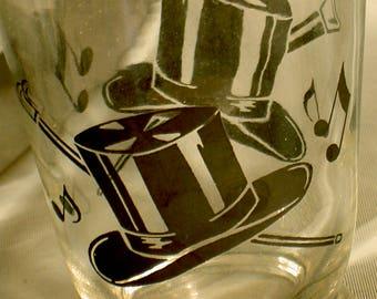 TOP HAT shot glass, juice glass