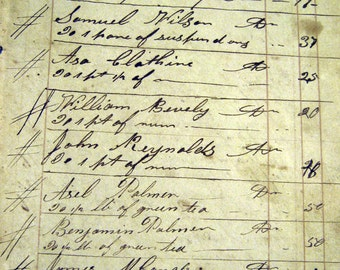 Antique Journal Pages with Handwritten Entries