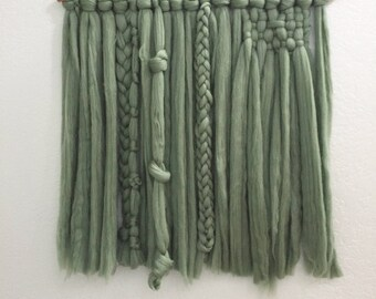 RUSH | Ivy Green Roving Woven Wall Hanging