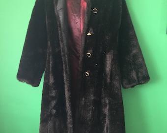 Vintage Ed Millstein Faux Mink Coat