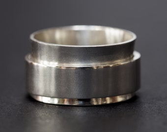 Sterling Silver Ring, Silver Ring, Spinner Ring, Spinning Ring, Silver Rings for Women, Silver Ring Men, Sterling Spinner Ring, Fidget Ring