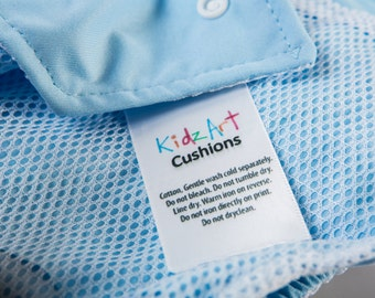 1000 Multicolor Clothing Tags Custom Made in Full Color Printed Clothes Labels. Washable Care Labels & Sewing Tags For Clothing