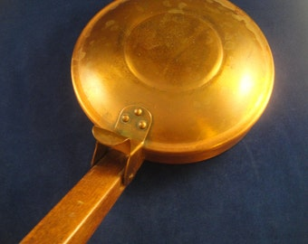 Covered Pan Wooden Handle Fantasy Copperware Hand Wrought Canada