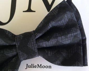 Bow tie cotton herringbone double thickness