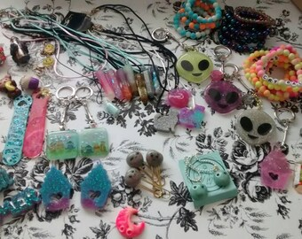 Handmade Mystery Box for Kids, Teen, Surprise bag, Grab Bag, Exciting Gift, Gifts under 20 dollars, Keychains, Bracelets, Magnets, Valentine