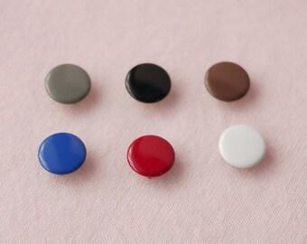 100 sets, Earth Tone (6 colors) Capped Prong Snap Button Set 7, Size 18L (11.3 mm)