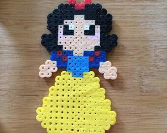 Snow White Perler Bead Art