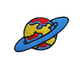 Saturn Iron On Patch Space Embroidered Applique Patches For Jackets