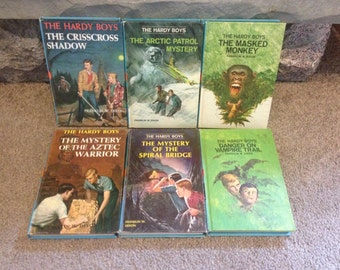 Hardy Boys Lot of 6 Hardcover Books from 1970s