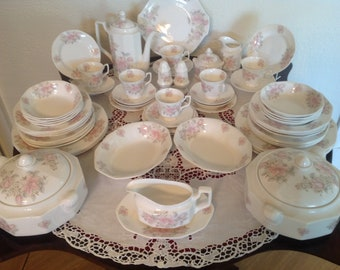 A tea and dinner set 1980's 60 piece set