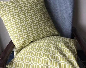Green Hollywood Regency Lattice Design Outdoor Cushion 18x18inch 45x45cm Cushion Throw Cover