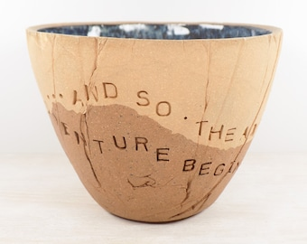 And So The Adventure Begins - Pottery Bowl - Inspiration Gift / Motivational Pottery / Wedding Gift / Moving Gift / Graduation Gift