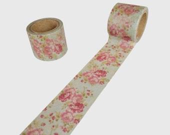 Wide washi tape flower - roll of masking tape flower 3cm