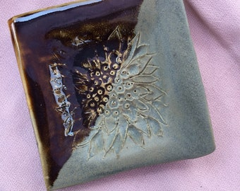 Ceramic Floral Garlic Grater