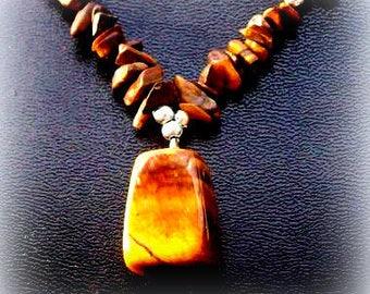 Tiger eye necklace & pendant