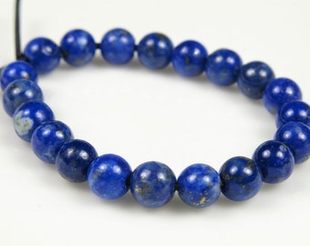 SUPER SALE - was 6.99 - Quality Genuine Natural Lapis Lazuli Small Round Bead - 4.2~4.4mm - 20 beads - B6181