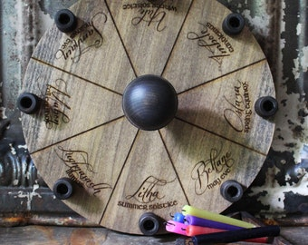 SALE~13 inch Heirloom Candle Sabbat Wheel of the Year Set