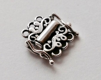Sterling Silver Three Strand Sliding Clasp Safety Catch Sterling Silver Jewelry Supply Jewelry Findings