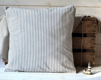 Striped pillow cover decorative  pillow Eco friendly Gift Under 50 stripe home