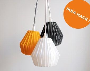 Design 3D printed pendant light / Lampshade / Hangout Lighting IKEA HACK