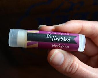 Baume à lèvres prune noir