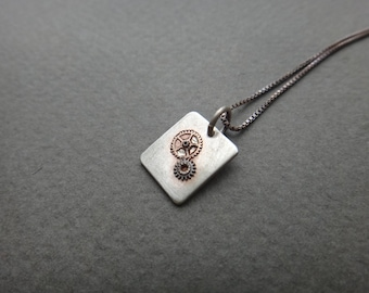 Recycled-Watch Gears Necklace