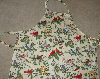 Garden birds apron   Ready to ship