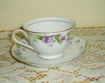 Noritake Nancy Cup with Two Saucers