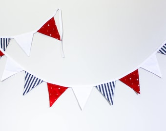Red, white and blue flag bunting