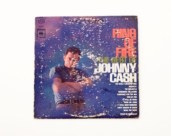 Johnny Cash Ring Of Fire The Best Of Vinyl Record Vintage Antique