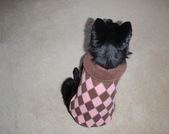 Pink Diamond Fleece Dog Coat