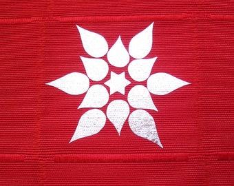 12 iron on flower stars appliques