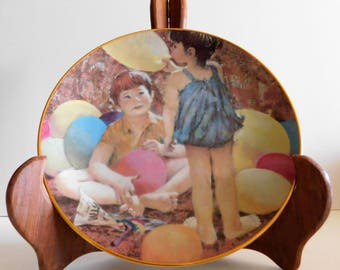 Balloon Carnival Collector Plate twelfth issue Summer Days of Childhood Plate Collection Thornton Utz #0962T The Hamilton Collection 1984