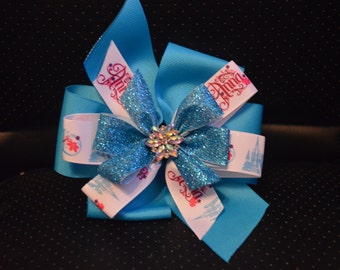 Frozen Anna and Elsa Bow