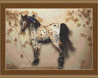 Cross Stitch Pattern Tranquil Horse Cross Stitch Pattern / Design