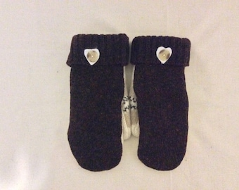 Upcycled warm and soft wool sweater mittens