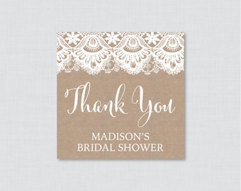 Burlap and Lace Bridal Shower Favor Tags Printable - Rustic Bridal Shower Favor Tags, Thank You Tags -Rustic Bridal Shower Favor Tags 0003