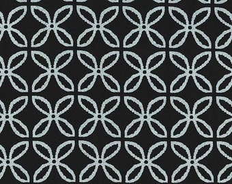 SALE - Michael Miller - Clover Pearlized in Zirconium Black / Silver