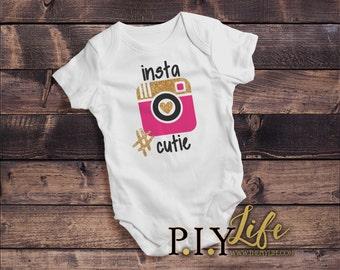 Kids    #Insta Cutie Kids Bodysuit DTG Printing on Demand