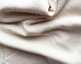 cotton double gauze fabric. soft japanese pure cotton fabric. 102cm (40in) wide. sold by 50cm (19in) long / half yard. ecru(unbleached)