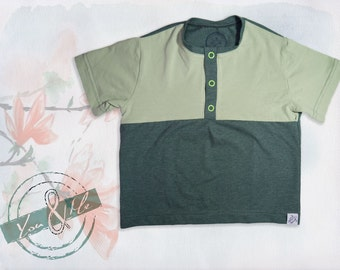 Polo Shirt Baby Organic cotton green short sleeve
