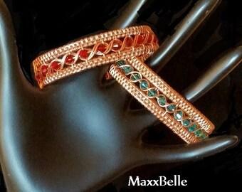 TUTORIAL - Egyptian Wire Weave Bracelet