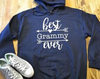 Best grammy ever hoodie - hooded sweatshirt - Grandma gift - Grandma hoodie